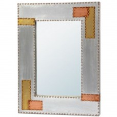 Aluminium Copper Industrial Wall Mirror