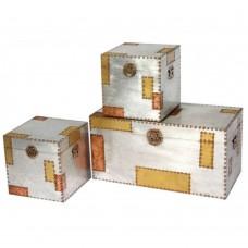 Aluminium Copper Industrial Set Of 3 Trunks