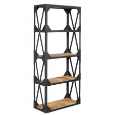 Ascot Industrial Large Bookcase