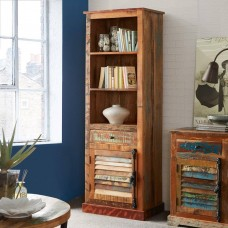 Coastal Reclaimed Industrial Wood Bookcase