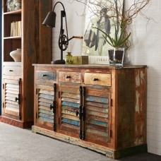 Coastal Reclaimed Industrial Wood Sideboard