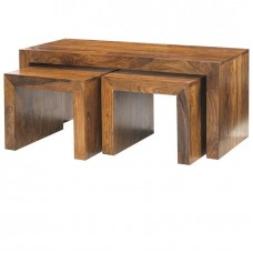 Cube Sheesham Industrial Coffee Tables