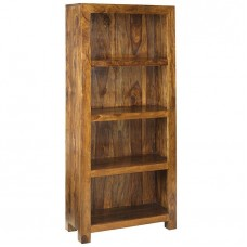 Cube Sheesham Industrial Bookcase