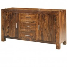 Cube Sheesham Industrial Sideboard