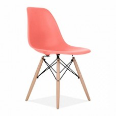 Eames Inspired DSW Dining Chair in Blush Pink