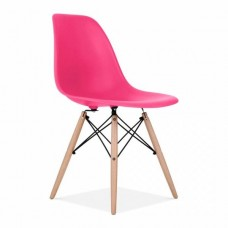 Eames Inspired DSW Dining Chair in Pink