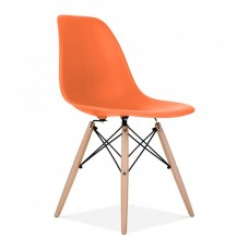 Eames Inspired DSW Dining Chair in Orange