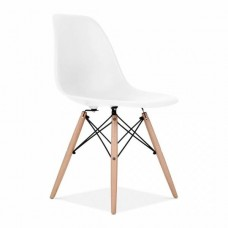 Eames Inspired DSW Dining Chair in White