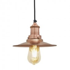 Brooklyn Antique Flat Industrial Copper Pendant Light - 8 inch