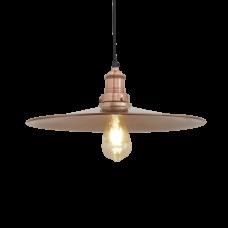 Brooklyn Antique Flat Industrial Pendant Light - Copper - 15 inch