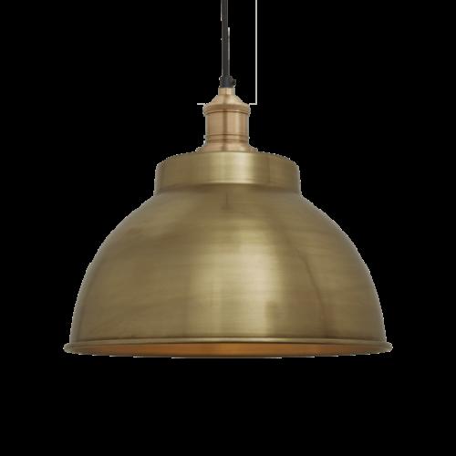 Brooklyn Vintage Metal Dome Pendant Light - Brass - 13 inch