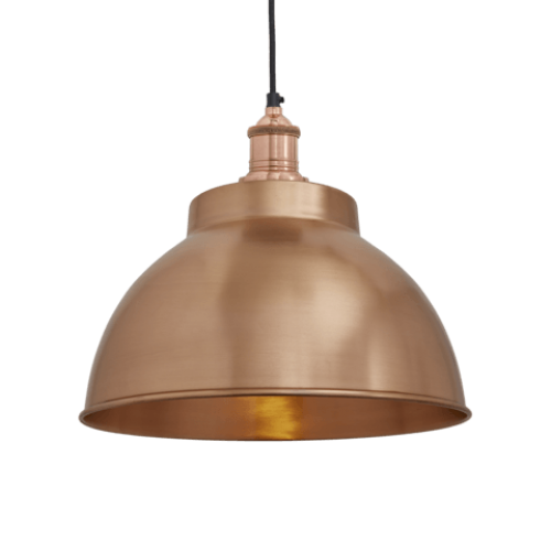 Brooklyn Vintage Metal Dome Pendant Light - Copper - 13 inch