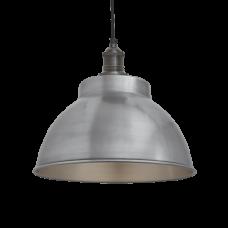 Brooklyn Vintage Metal Dome Pendant Light - Light Pewter - 13 inch