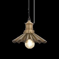 Brooklyn Vintage Umbrella Lampshade Pendant Light - Brass - 8 inch