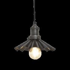 Brooklyn Vintage Umbrella Lampshade Pendant Light - Dark Pewter - 8 inch