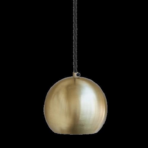 Globe Single Pendant Ceiling Light - Brass