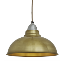 Old Factory Vintage Pendant Light - Brass - 12 inch