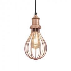 Orlando Vintage Balloon Cage Pendant Light - Copper