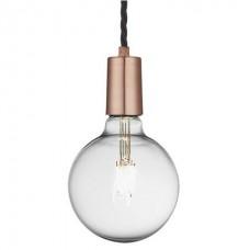 Vintage Sleek Edison 1 - Wire Pendant - Copper