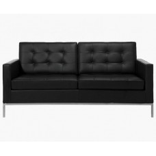 Le Bauhaus 2 Seater Sofa - Black Premium Leather