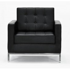 Le Bauhaus Armchair - Black Premium Leather