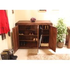 Shiro Retro Art Deco Industrial Shoe Cupboard